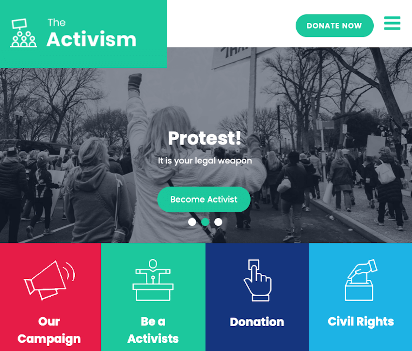 SKT Activism Lite - WordPress Theme for Community Organizers
