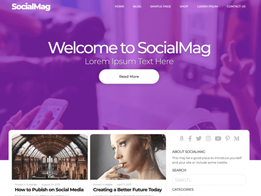 SocialMag - Magazine and Community Theme