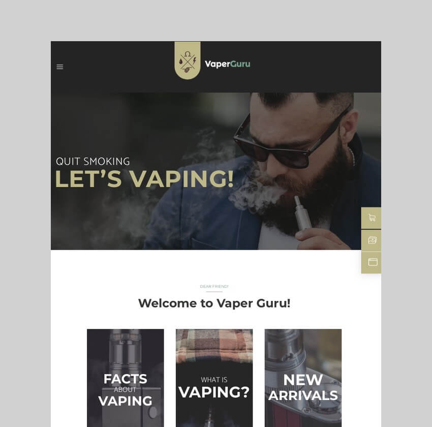 VaperGuru - Vapers Community Store Theme