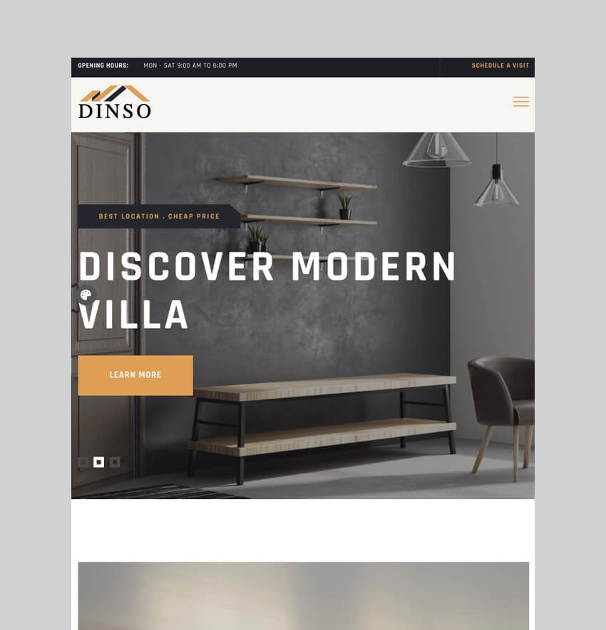 Dinso - Apartment Rental WordPress Theme