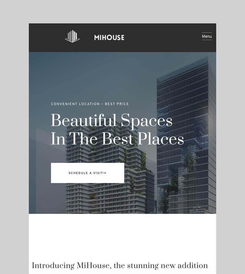 Mihouse - WordPress Theme for Single Property Websites