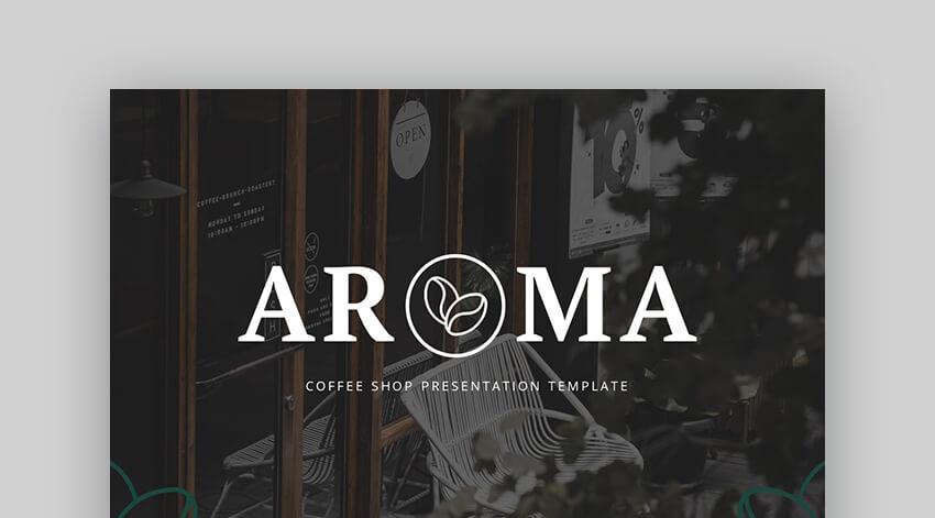 Aroma - Coffee Shop Premium PowerPoint Presentation Template