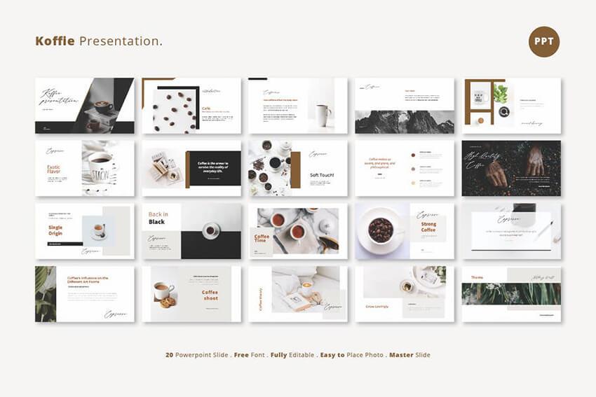 Coffee presentation template