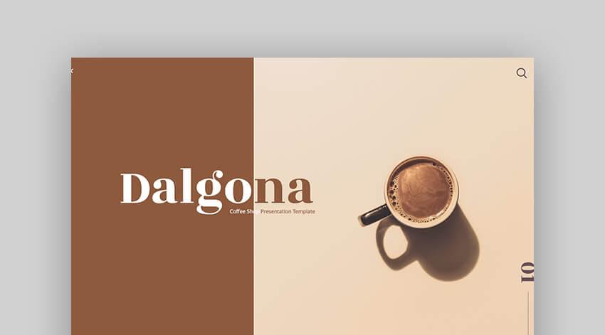 Dalgona - Premium Coffee Presentation Template