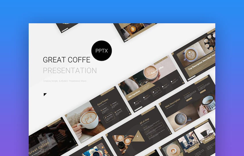 Great Coffee Presentation - Premium PowerPoint Template