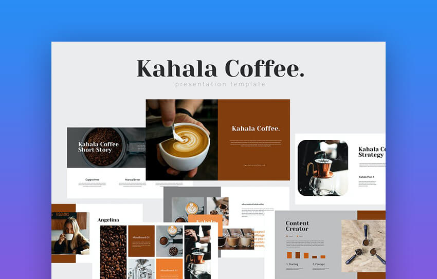 Kahala - Coffee-Themes Premium PowerPoint Template
