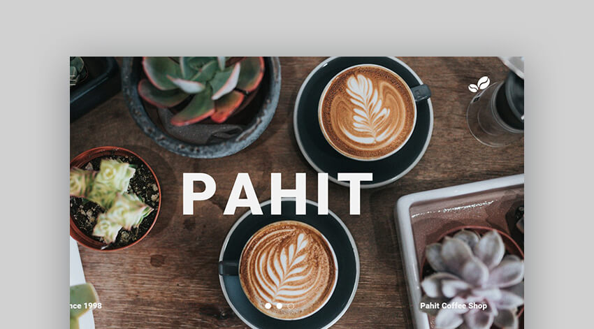 Pahit - Coffee Shop Presentation Template
