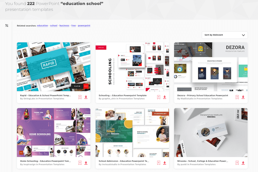 Best PowerPoint Background for Academic Presentation on Envato Elements.