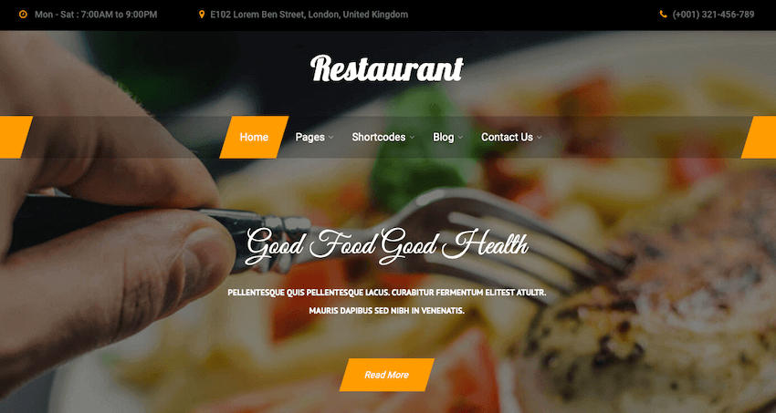Bistro Lite WordPress theme