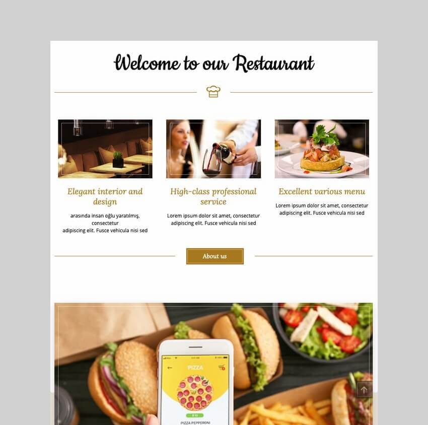 Bon Appetit food ordering WordPress theme