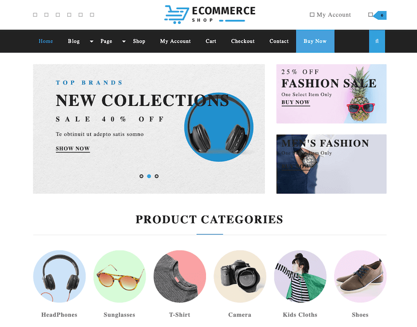 VW Ecommerce Store WordPress theme