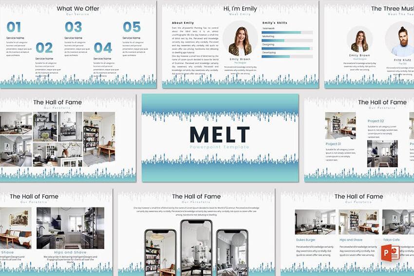 Melt PowerPoint Template