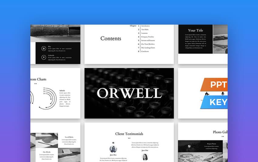 Orwell Presentation powerpoint