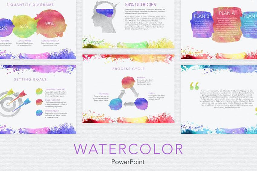 Watercolor template on Envato Elements