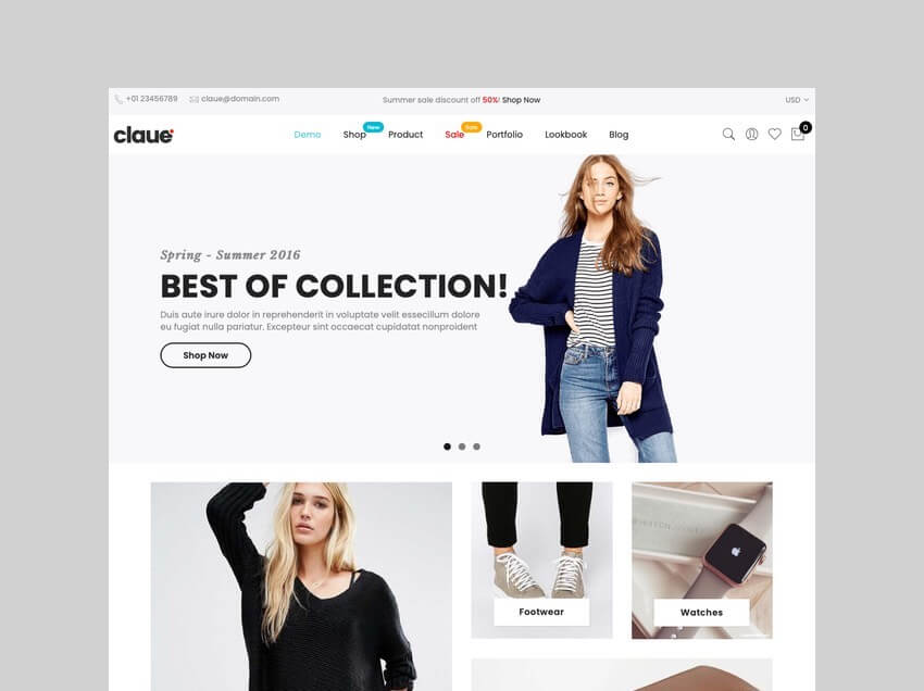 Claue clean minimal dropshipping theme