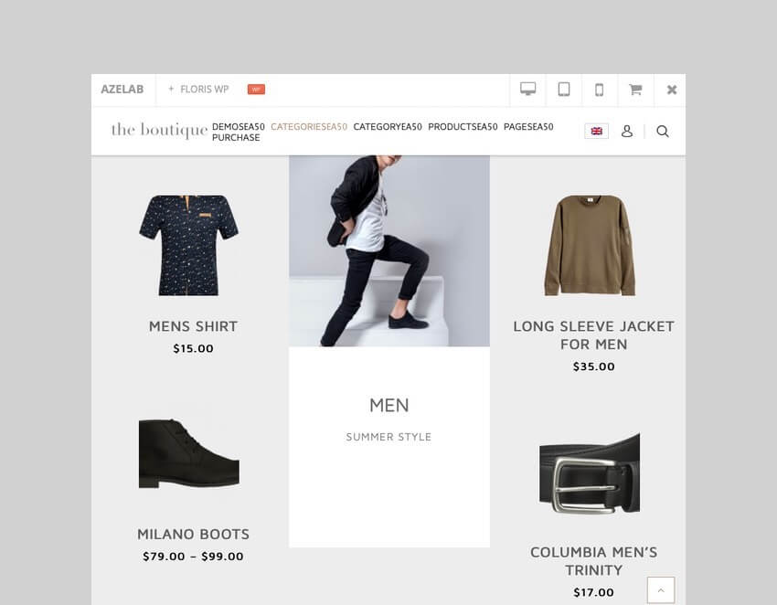 Floris fashion shopping WooCommerce theme