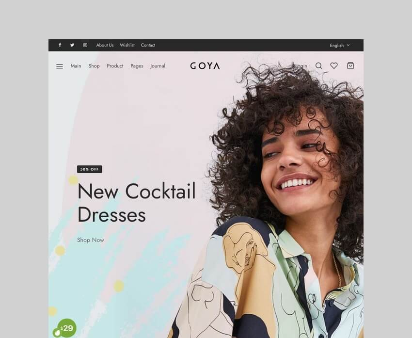 Goya WooCommerce drop shipping theme