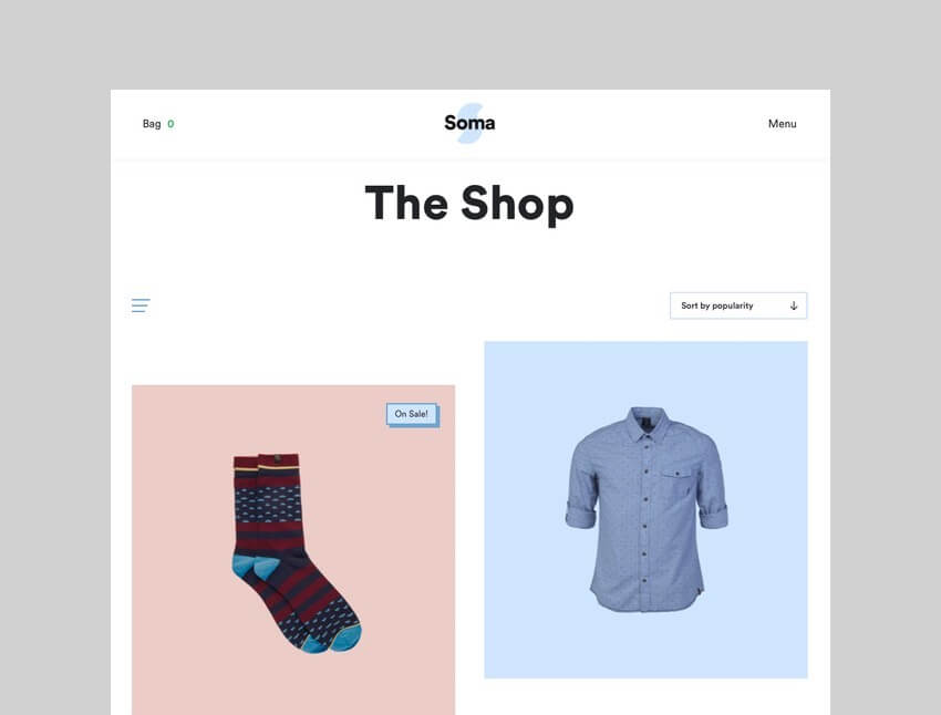 Soma WooCommerce drop shipping theme