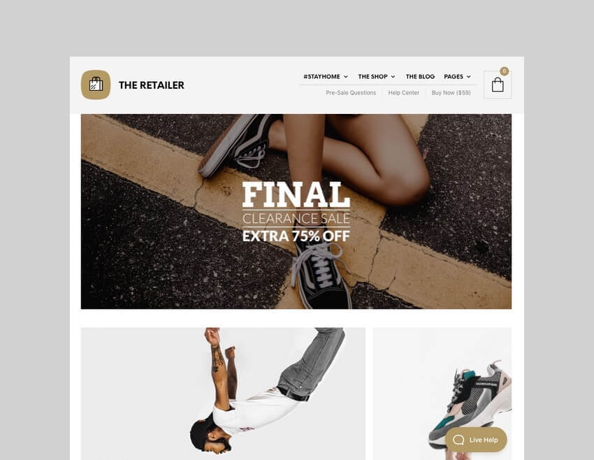 The Retailer WordPress WooCommerce theme