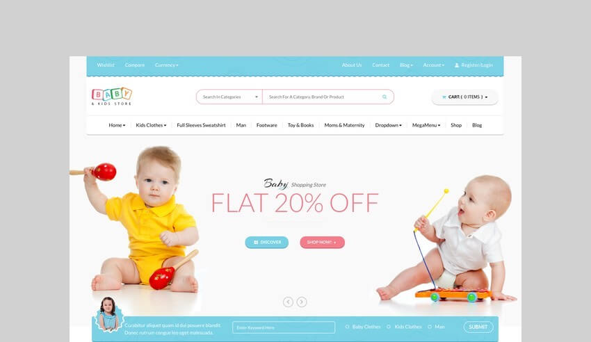baby & kids toy store woocommerce theme