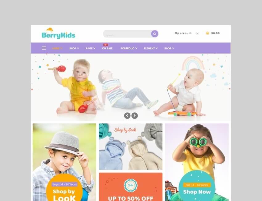berry kids baby store wordpress theme
