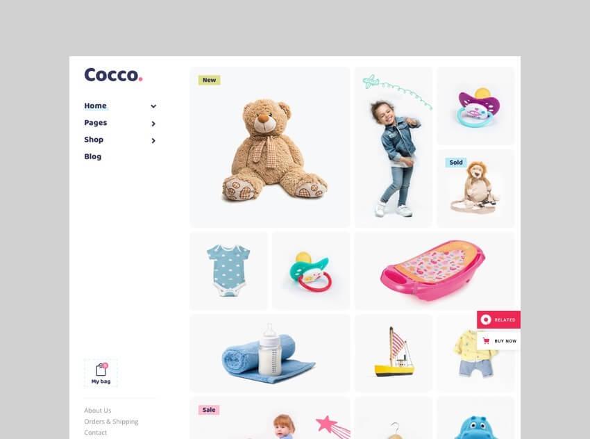 cocco kids store woocommerce theme