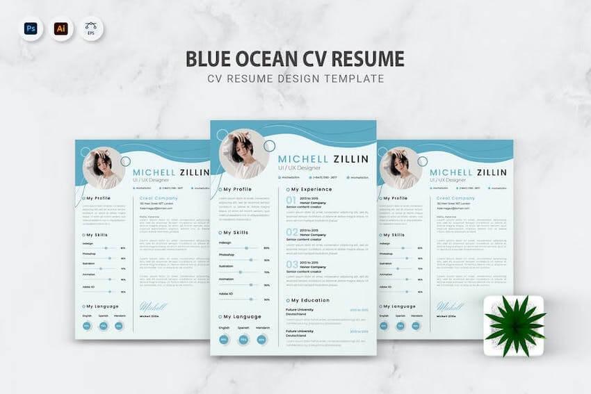 Blue Ocean CV Resume