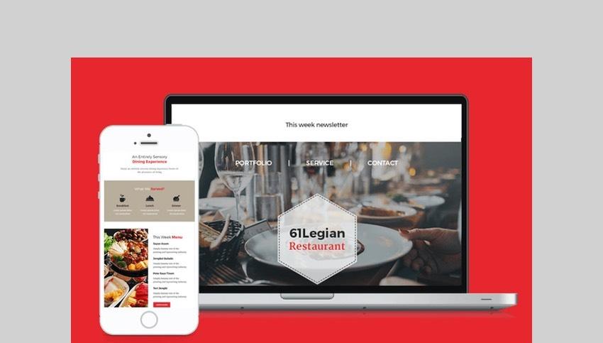 61 Legian Restaurant Email Template by giantdesign