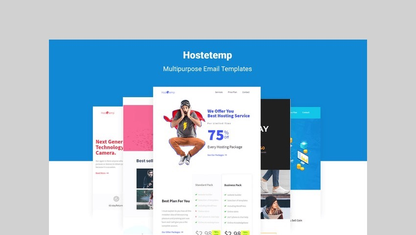 Hostetemp - Multipurpose Email Templates & Builder by themelooks
