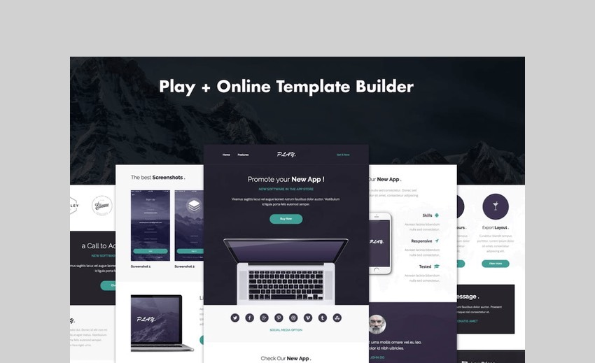 Play - Responsive APP Email Template by DynamicXX