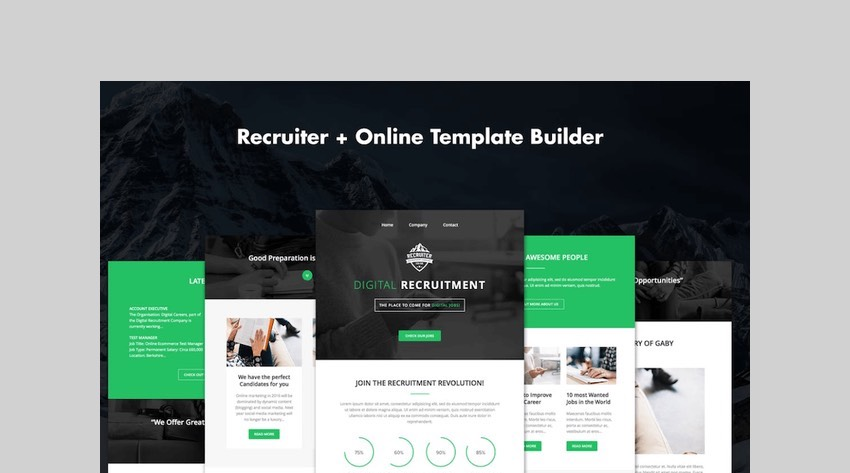 Recruiter - Responsive Recruitment Email + Builder by DynamicXX