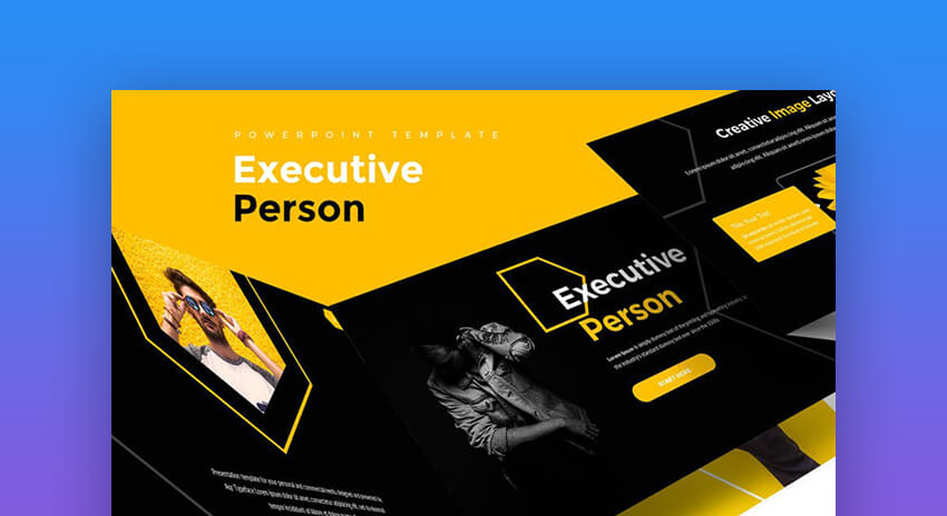 Executive Person - Executive Summary Powerpoint Template