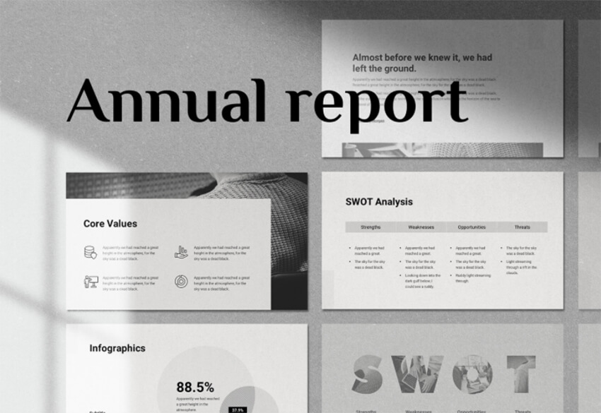 Free Annual Report Executive Summary PowerPoint