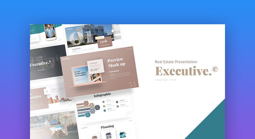 Executive - Executive Summary PowerPoint Template For Real Estate Presentations