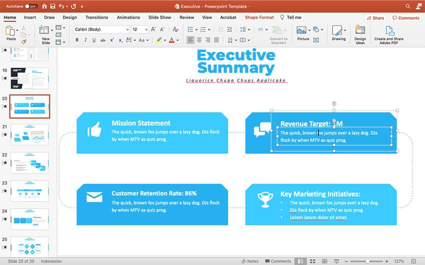 Adding revenue targets