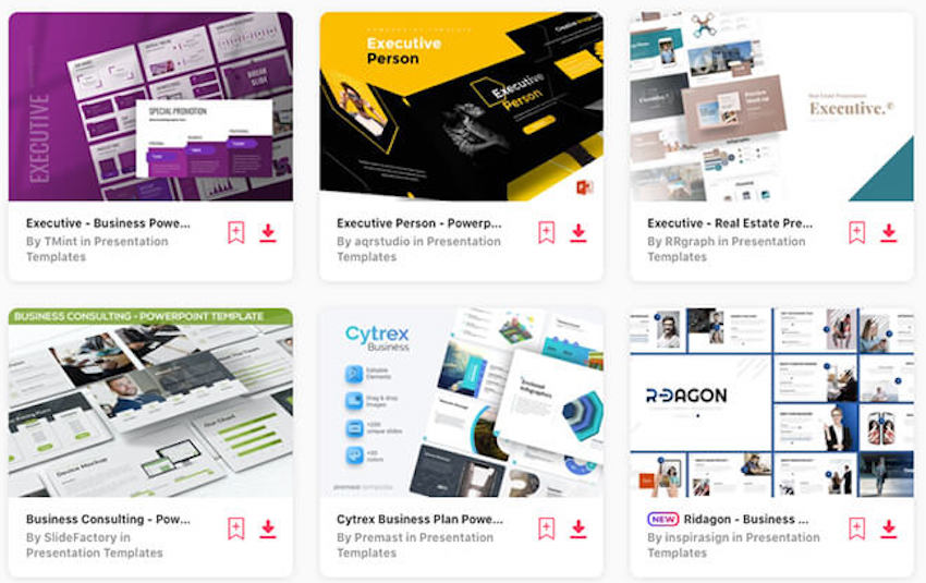 Executive summary PowerPoint templates on Envato Elements