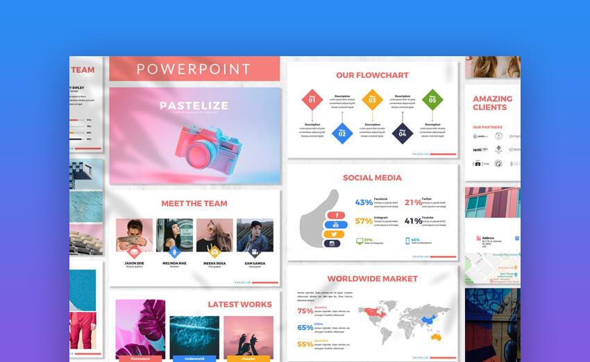 Pastelize colorful presentation template