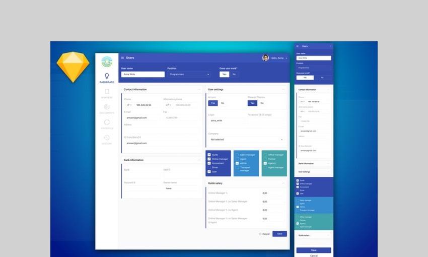 Dashboard Info UI Kit by Qo7