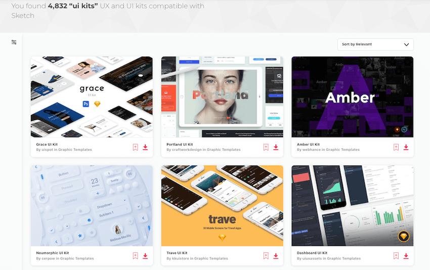 Envato Elements Sketch UI Kits