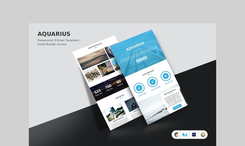 aquarius email template