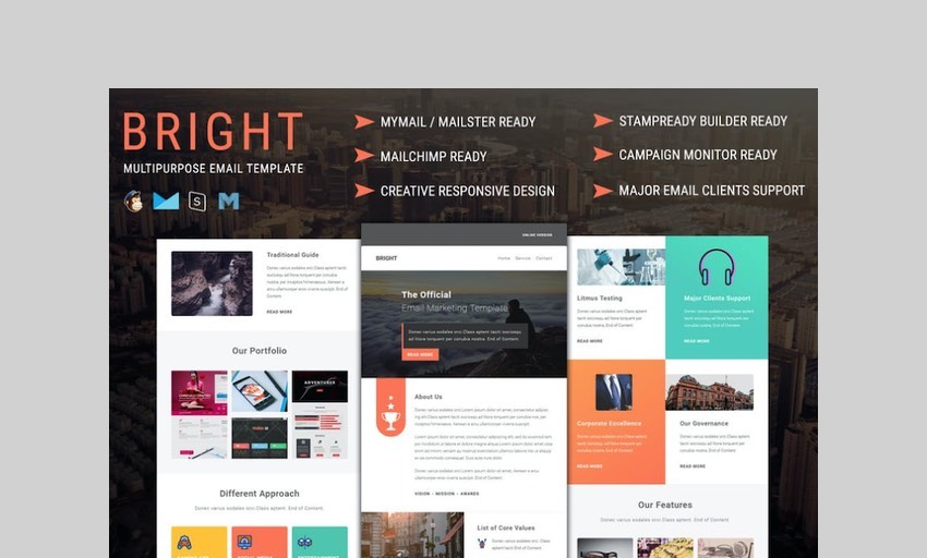 Bright multipurpose real estate template