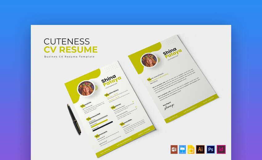Cuteness Resume Template