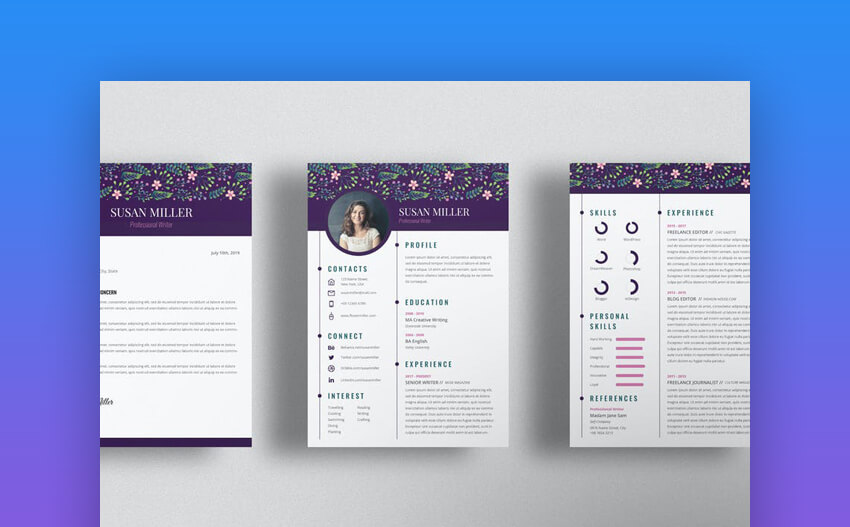 Writer Creative Resume Template