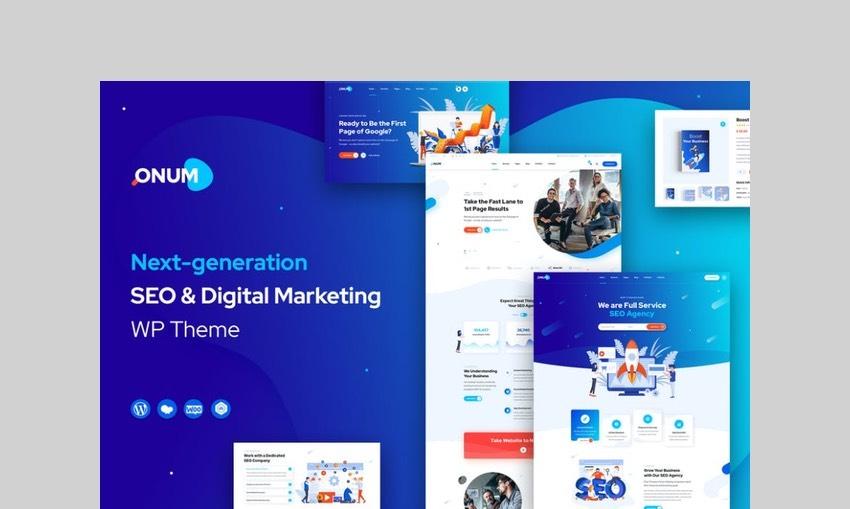 Onum Seo and marketing wordpress theme
