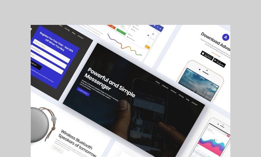 Onepage digital product wordpress theme