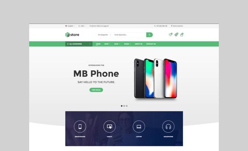 MBStore digital product WordPress theme