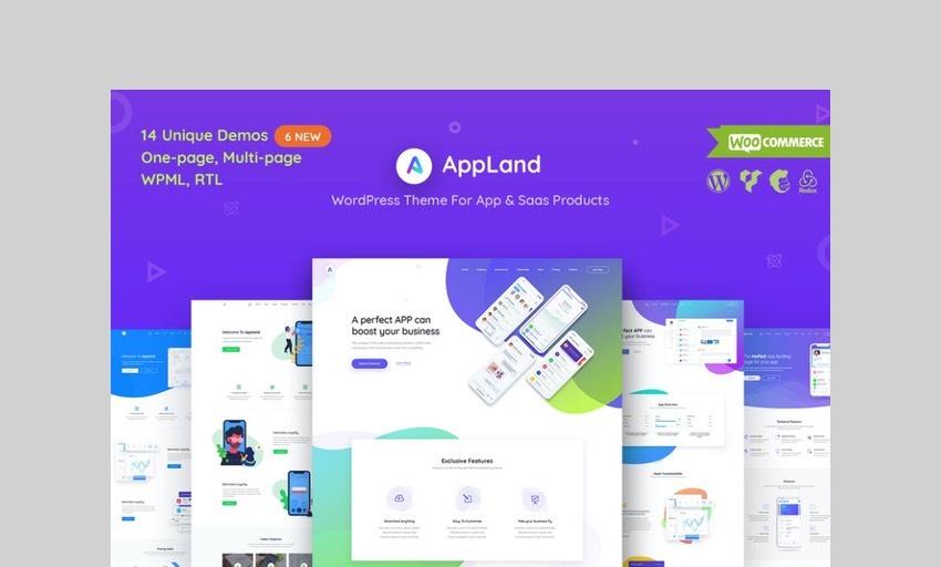 AppLand Wordpress theme