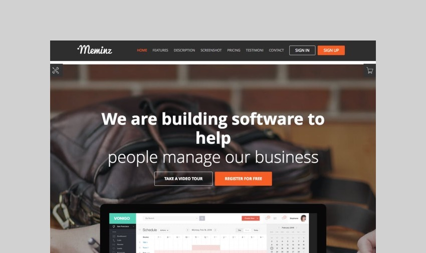 Meninz downloadable product WordPress theme