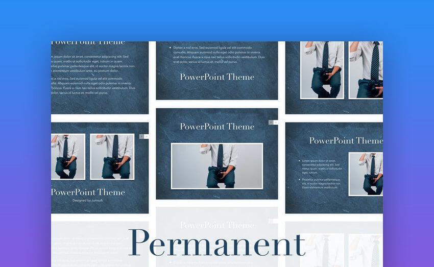 Permanent PowerPoint Presentation Template