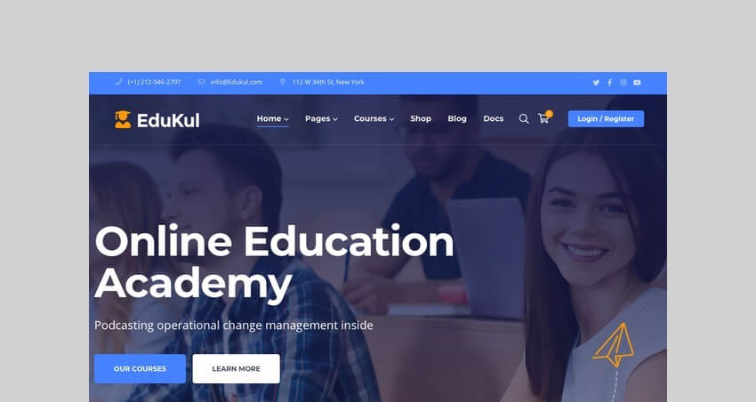 Edukul Online Course WooCommerce Theme